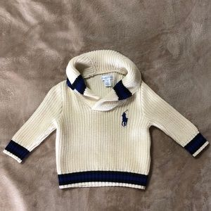 Ralph Lauren Cream Sweater 9 Months NWOT